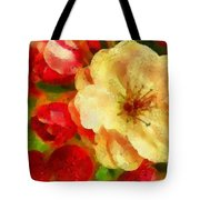 Yellow And Red Floral Delight Tote Bag