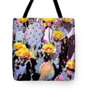 Yellow And Red Flower Tote Bag