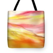 Yellow And Red Landscape Tote Bag