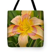 Yellow And Red Lily Tote Bag