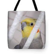 Yellow And Red On White Tote Bag
