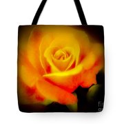Yellow And Red Rose Tote Bag