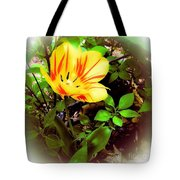 Yellow And Red Tulip Tote Bag