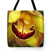 Yellow And Russet Orchid Tote Bag