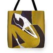 Yellow And Violet Tote Bag
