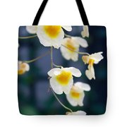 Yellow And White Cascading Flowers Tote Bag