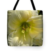 Yellow And White Daylily Tote Bag