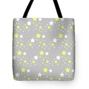 Yellow And White Stars On Grey Gray  Tote Bag