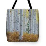 Yellow Aspen Grove Tote Bag
