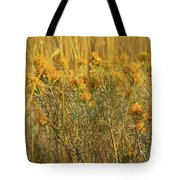 Yellow Autumn Blooming Tote Bag