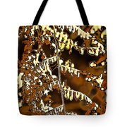 Yellow Autumn Leaves Fern Tote Bag