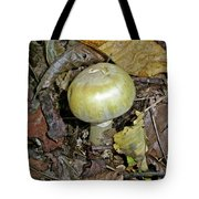 Yellow Autumn Mushroom Tote Bag