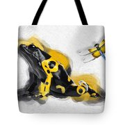 Yellow-banded Poison Dart Frog No 01 Tote Bag