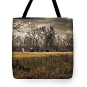 Yellow Barn And The Field Tote Bag
