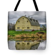 Yellow Barn Tote Bag