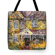 Yellow Batik House Tote Bag