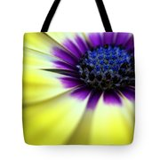 Yellow Beauty With A Hint Of Blue And Purple Tote Bag