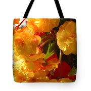 Yellow Begonia Flowers.  Victoria Tote Bag