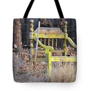 Yellow Bench Tote Bag