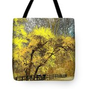 Yellow Bend Tote Bag