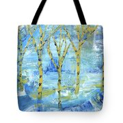 Yellow Birches Tote Bag