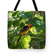 Orange Bird Tote Bag