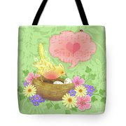 Yellow Bird's Love Song Tote Bag
