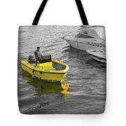 Yellow Boat Tote Bag