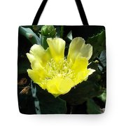 Yellow Bonnet, Cactus Tote Bag