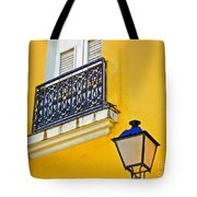 Yellow Building Tote Bag