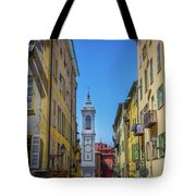 Yellow Buildings And Chapel In Old Town Nice, France - Landscape Tote Bag