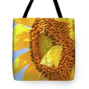 Yellow Butterfly And Sunflower Tote Bag