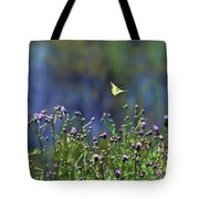 Yellow Butterfly Flyaway Tote Bag