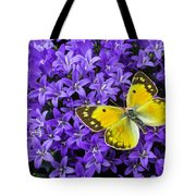 Yellow Butterfly On Mee Tote Bag