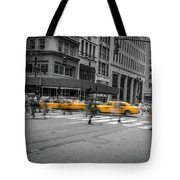 Yellow Cab On Fifth Avenue, New York 4 Tote Bag