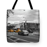 Yellow Cabs By The United Nations, New York 3 Tote Bag