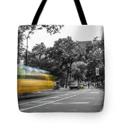 Yellow Cabs In Central Park, New York 4 Tote Bag