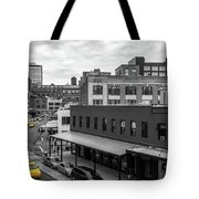 Yellow Cabs In Chelsea, New York 5 Tote Bag