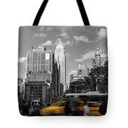 Yellow Cabs In Midtown Manhattan, New York Tote Bag