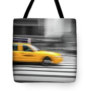 Yellow Cabs In New York 6 Tote Bag