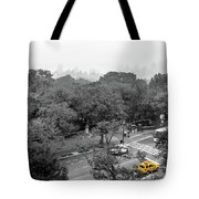 Yellow Cabs Near Central Park, New York Tote Bag