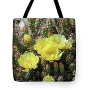 Yellow Cactus Blooms Tote Bag