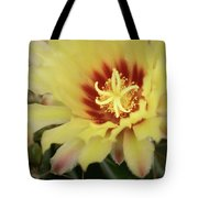 Yellow Cactus Plant Flower Tote Bag