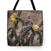 Yellow Cactus Tote Bag