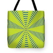 Yellow Cactus Spines Abstract Tote Bag