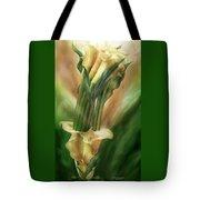 Yellow Callas In Calla Vase Tote Bag