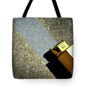 Yellow Car On The Stone Pavement Tote Bag