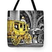 Yellow Carriage Tote Bag