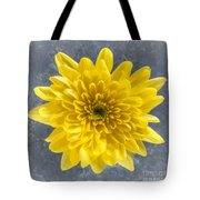 Yellow Chrysanthemum Flower Tote Bag