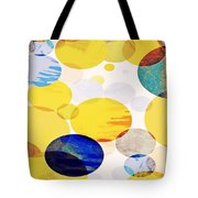 Yellow Circles Tote Bag